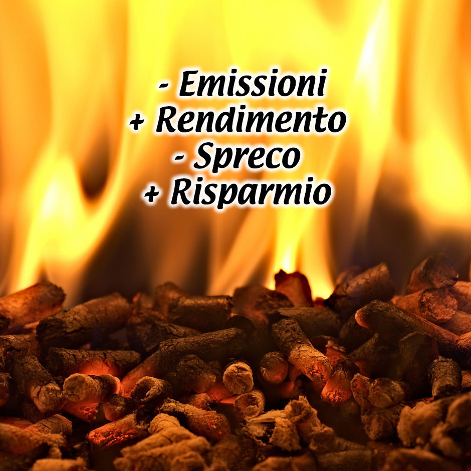 - emissioni + rendimento - spreco + risparmio