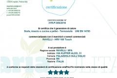 Certificazione hrv160touch